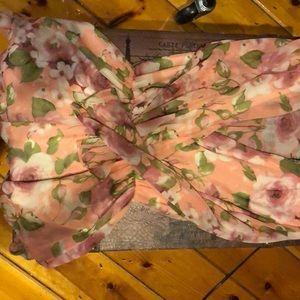 Flower printed romper